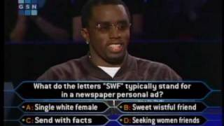 "1/2 Sean ""puffy"" Combs on celeb millionaire (high quality)"