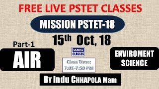 Live : Mission PSTET-2018 Day-1 Environment Science Air