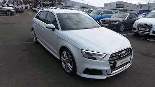 Audi A3 Sportback S line 1.5 TFSI 150 PS S tronic for sale at Crewe Audi
