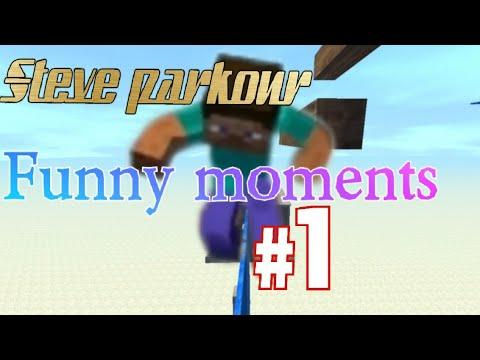 Minecraft meets LAC! Steve parkour funny moments!