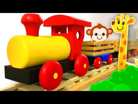 Aprende Los Animales Salvajes En Español Con El Tren De Madera | Tino – Juguetes Y Niños