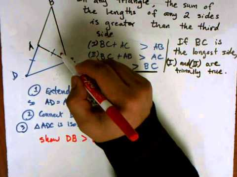 Proof Of Triangle Inequality Theorem