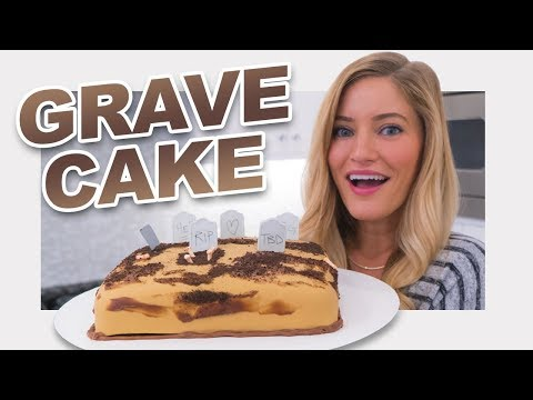 Download Youtube: 💀 Halloween Grave Yard Cake!