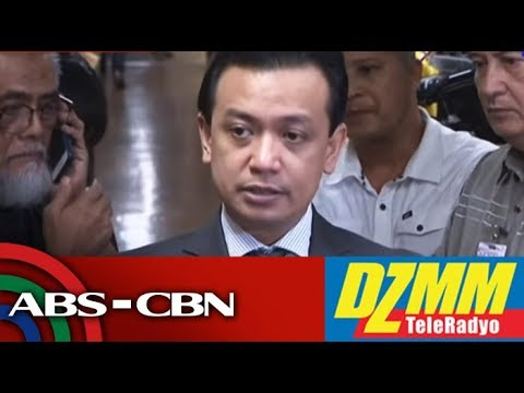 LIVE: Trillanes back in Senate after posting bail | 25 September 2018