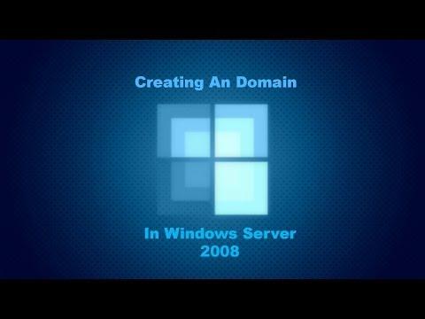 Creating An Domain On Windows Server 2008