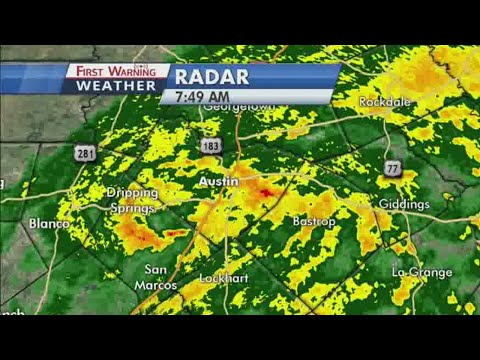 Bands of weather as Category 1 Harvey moves through