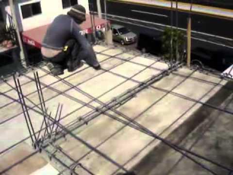 Armado de varilla para losa de concreto 01  YouTube