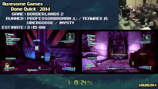 borderlands 2 speed run in 2 39 37 co op agdq 2014