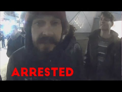 Shia LaBeouf Getting  ARRESTED AT PROTEST