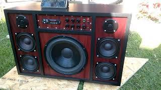 Boombox 2.1 330W with mic. input (DIY HUN)