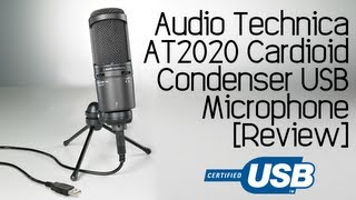 audio technica at2020 usb cardioid condenser microphone review test
