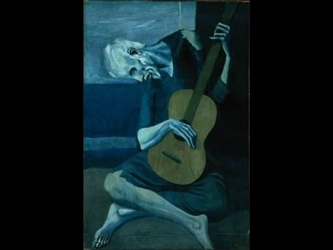 an analysis of the old guitarist pablo picassos painting from the blue period Quick view: synopsis pablo picasso was the most dominant and influential artist of and this tendency shaped his so-called blue period  the old guitarist.