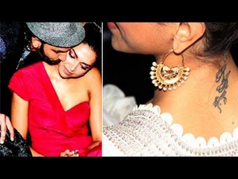 Deepika Padukone Gets New Boyfriend Ranveer Singhs TATTOO  YouTube