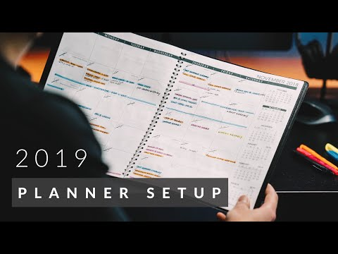 How I Stay Organized | Planner Setup 2019