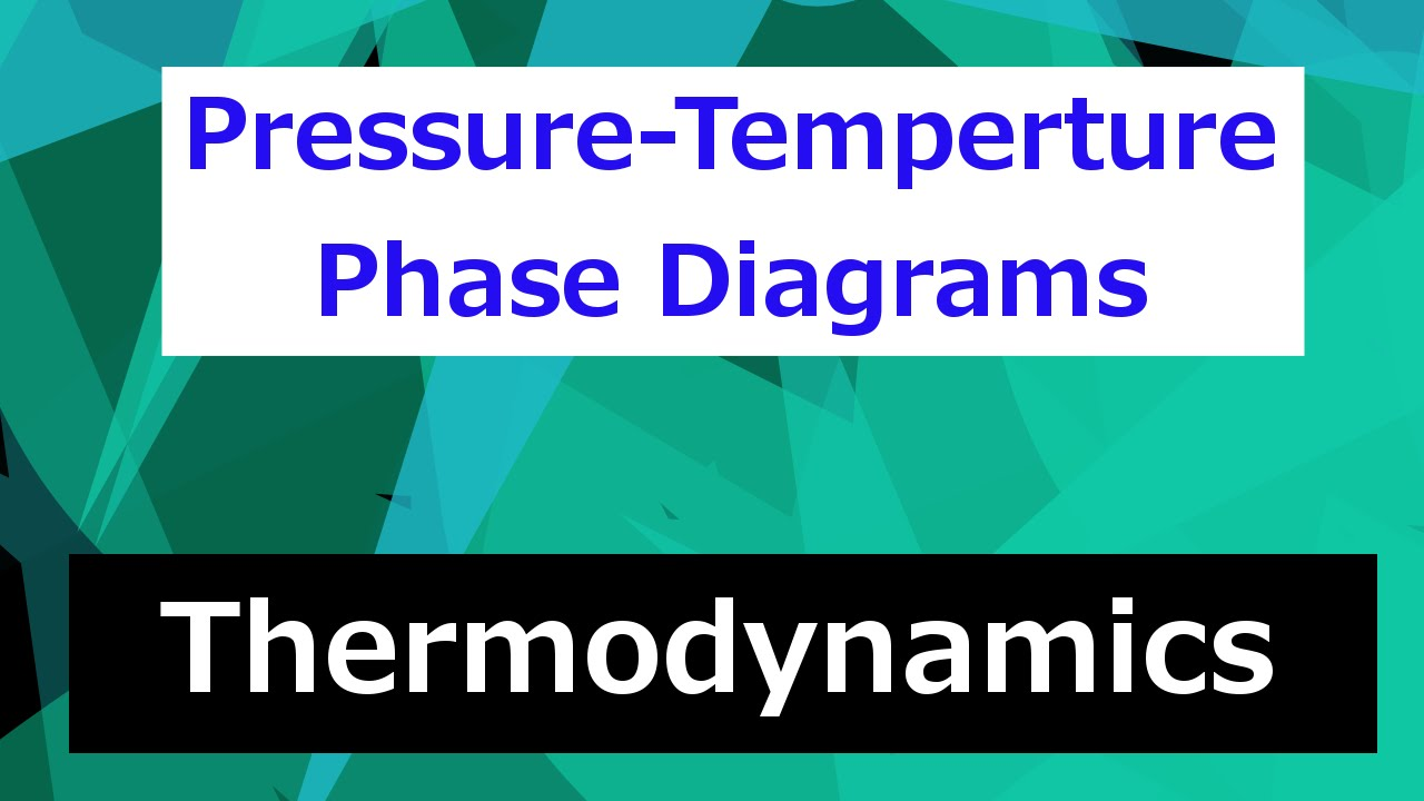 hight resolution of pressure temperature phase diagram thermodynamics class 46