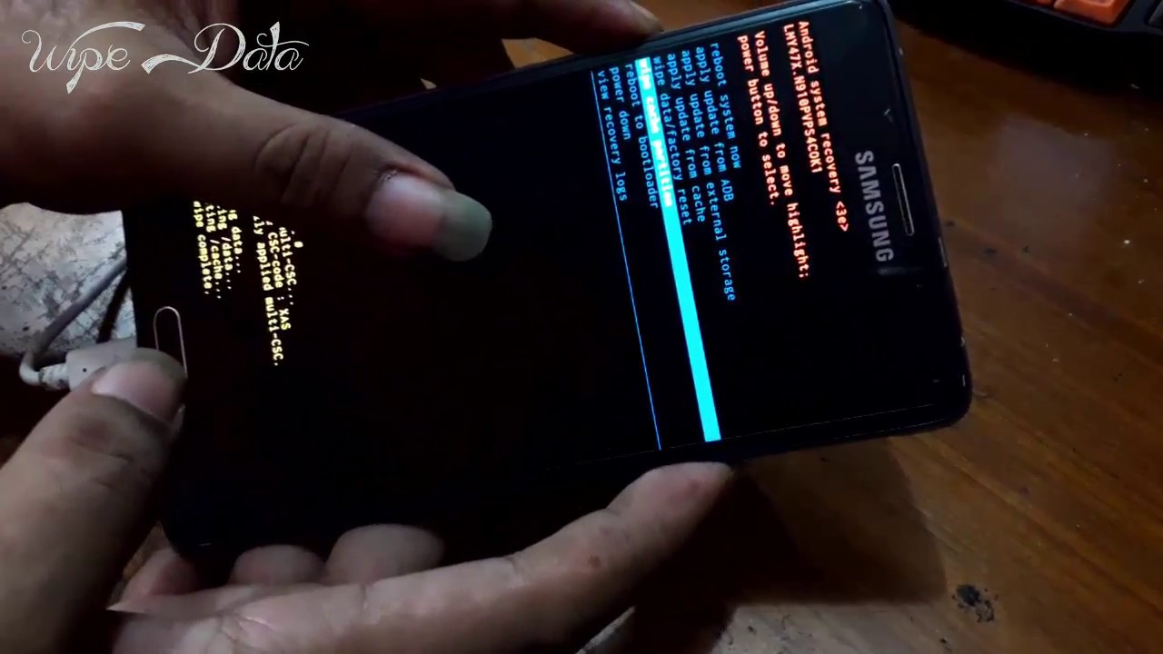How To Factory Reset A Locked Galaxy Note 4 Samsung Galaxy