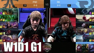 Fnatic vs Origen | Week 1 Day 1 S6 EU LCS Spring 2016 | FNC vs OG G1 W1D1