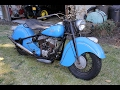 BARN FIND: 1947 Indian Chief Motorcycle. Charvet Classic Cars