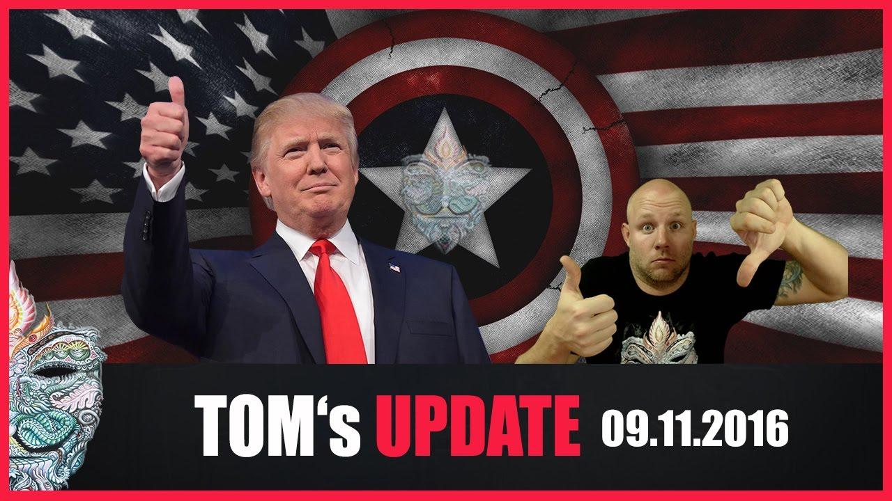 Tom's Update #8 (09.11.2016) Donald Trump ist neuer Präsident der USA! ... und jetzt? - YouTube
