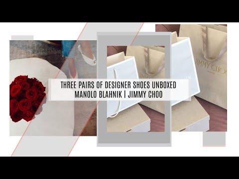 THREE NEW DESIGNER SHOES (HAUL)   MANOLO...