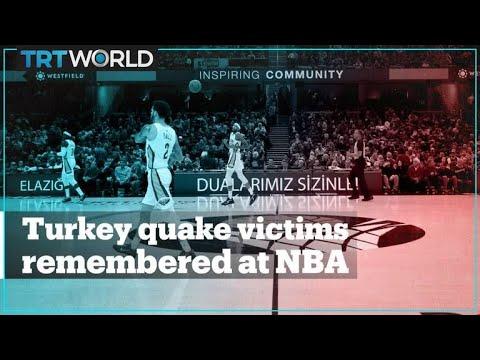 NBA sends a message of condolence to Turkey quake victims