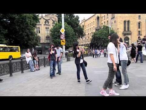 Freeze Flash mob in Georgia, Tbilisi