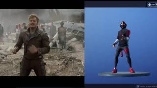 *Dance off* FORTNITE dance in real life 100% SYNC STAR LORD Dance 100% Synchronized at FORTNITE