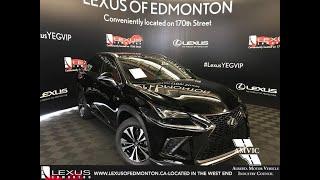 Black 2019 Lexus NX 300 F Sport Series 2 Review - South Edmonton, Alberta