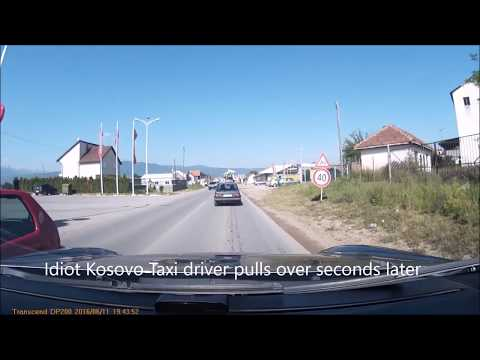 Kosovo drivers behaving badly