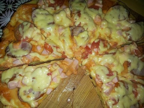 Пицца моментальная на сковороде