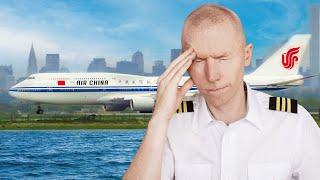 Air China 981 Pilot Lost at JFK    ATC vs Pilots