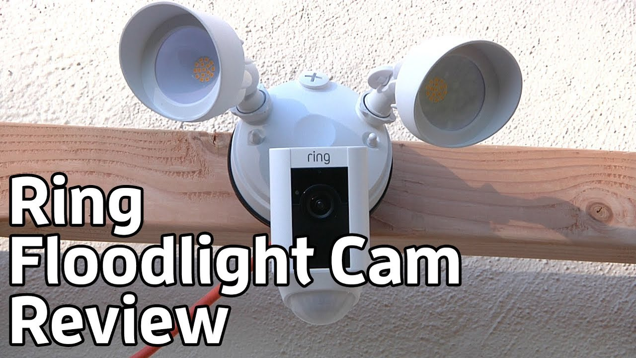 Ring Floodlight Cam Outdoor Security Camera Review Te