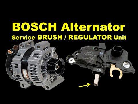 bosch alternator regulator replacement alternator brush change rh youtube com