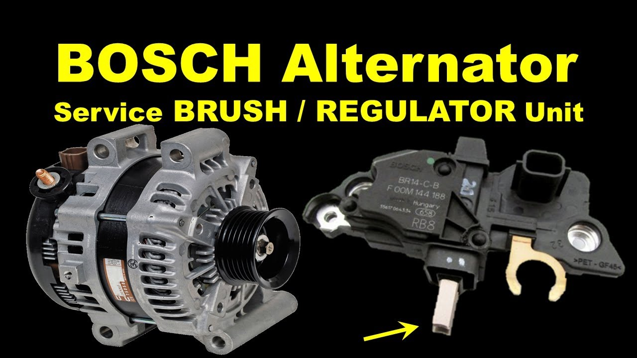 hight resolution of bosch alternator regulator replacement alternator brush change