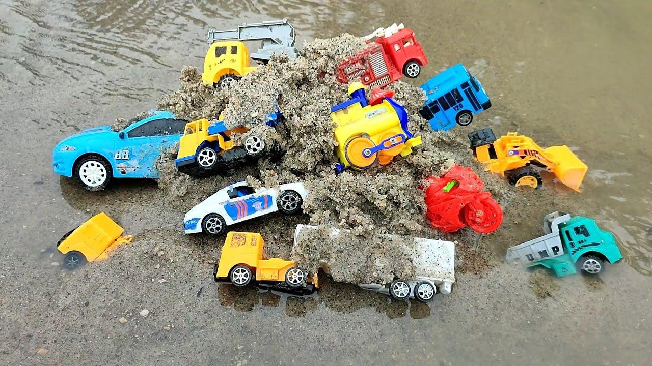 mobil derek motor balap, motor cross truk gandeng, mobil balap mobil polisi, kereta api bego, part 5