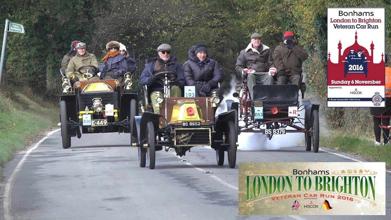 London Brighton Veteran Car Run 2016 - YouTube
