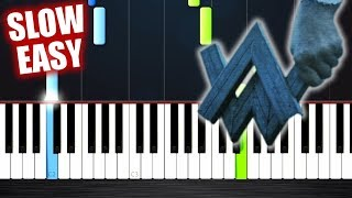 Alan Walker - Darkside - SLOW EASY Piano Tutorial by PlutaX