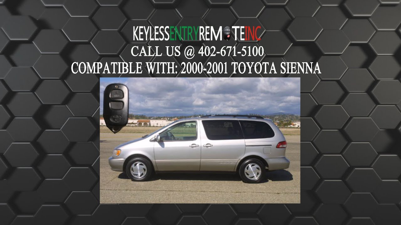 How To Replace Toyota Sienna Key Fob Battery 2000 2001
