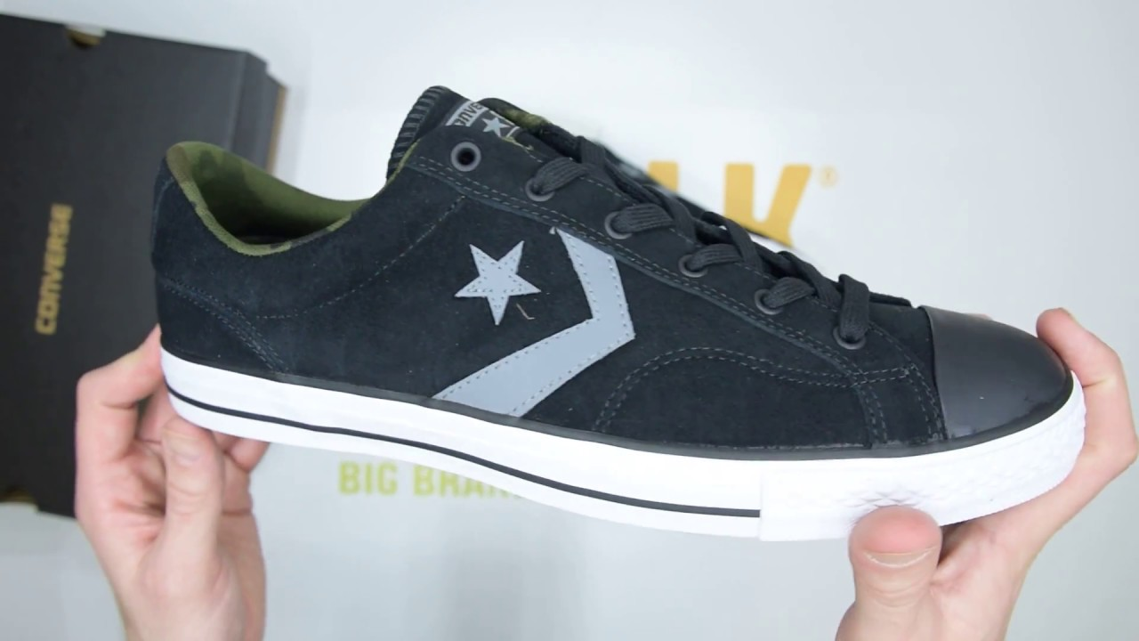 Converse Star Player Ox - Black Grey - Unboxing  79cec985c