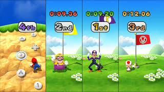 Mario Party 9 Garden Battle - Mario vs Wario vs Waluigi vs Toad| Cartoons Mee