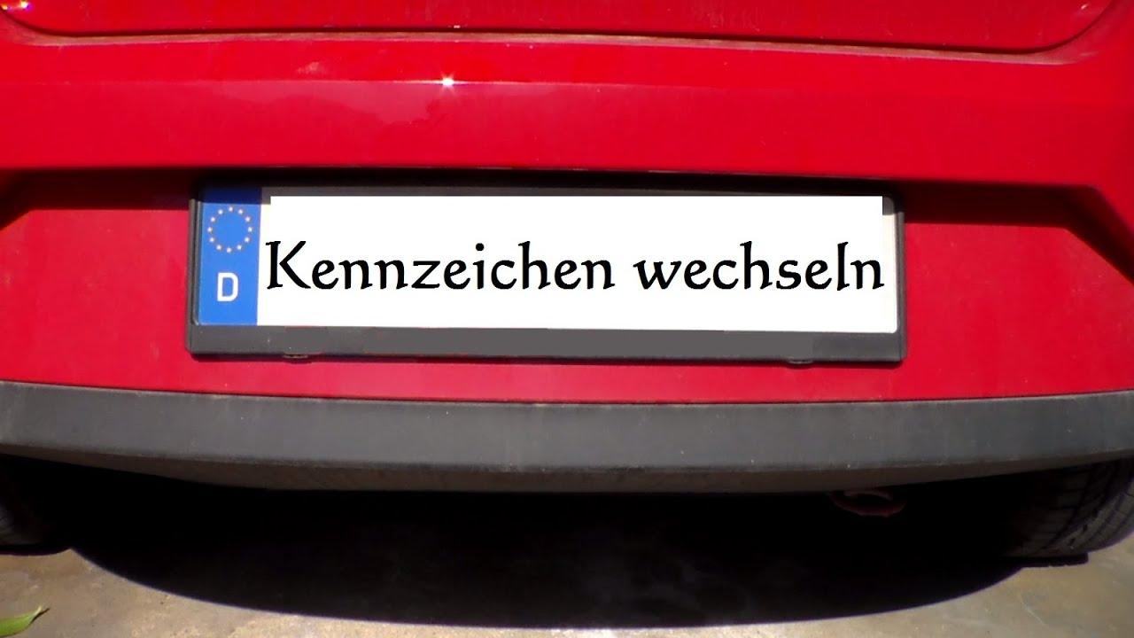 Kennzeichen wechseln - Nummernschild wechseln montieren - Auto ...