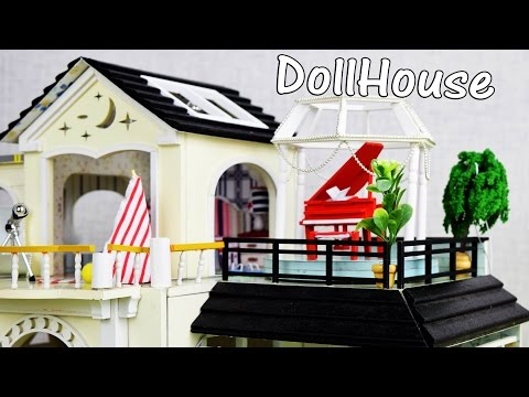 DIY Beautiful Miniature DollHouse with Full Furniture Sets&Lights