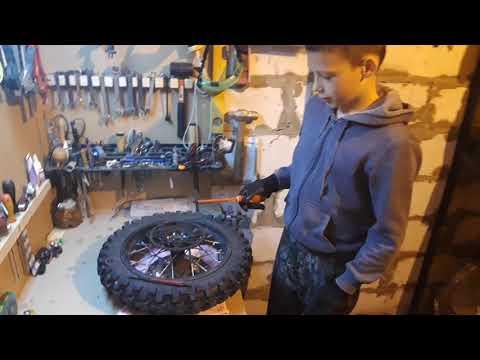 Смазка осей колёс, оси маятника и подшипников колёс питбайка кайо 125