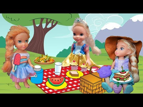 Annya and Elsya Picnic! Anna and Elsa Toddlers Adventures! Nature Hunt Outdoors Kidnap Fox's Revenge