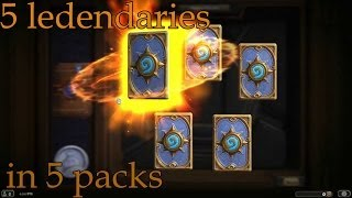 5 legendaries in 5 packs