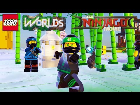 LEGO Worlds - Ninja Bamboo Forest Brick Build Unlock Lloyd, Jay, Cole, Kai And Zane