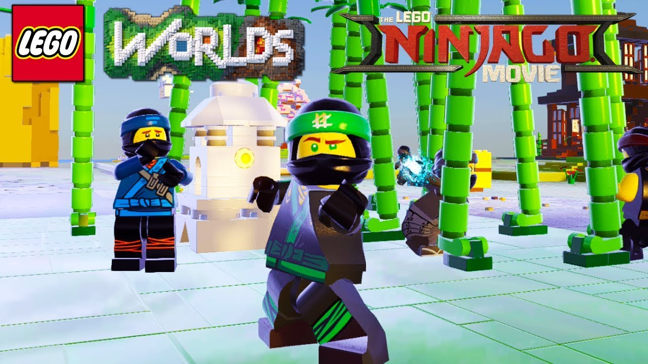 Lego Worlds Ninja Bamboo Forest Brick Build Unlock Lloyd Jay