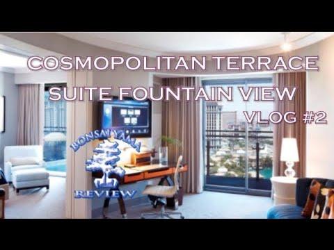 Las vegas cosmopolitan terrace suite fountain view vlog 2 for Terrace suite cosmopolitan