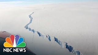 Huge Iceberg Breaks Off Antarctic Ice Shelf | NBC News
