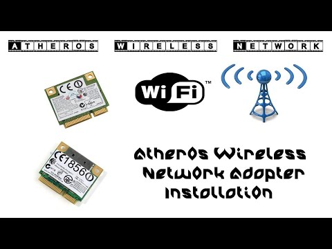 How To Installation Atheros  Wireless Network Adapter